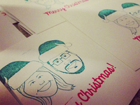 Final Product of Xmas Card Stamps