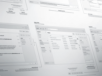 Mac Chat Application Wireframes