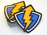 Thunder Up Shield Sticker