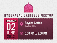 Hyderabad Dribbble Meetup, Date, Venue, Time