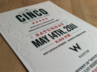 Cinco Party Invitation