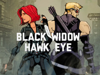 Black Widow & Hawk Eye - Avengers Week
