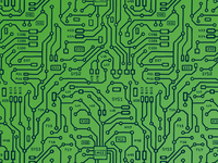 Microchip Pattern in Green