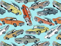 Muscle Car Pattern