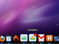 Fever, Basecamp, Campfire and Harvest dock fluid icons