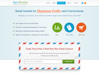 Conversion optimization blog home page