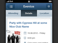 Events iPhone App