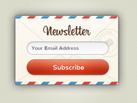 Newsletter Candy UI Rebound