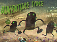 adventure time dvd menu.