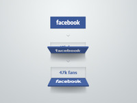 Facebook button concept