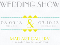Details from a wedding show poster