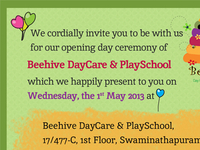 Invitation design for Beehive PlaySchool