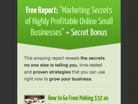 QuickSprout Free Report - Blog Sidebar