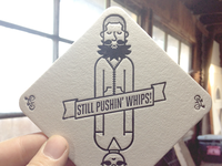 Letterpress Coaster: Color 1