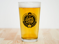 Liquid Courage Pint Glass by TRON