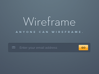 Anyone can wireframe.