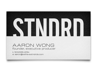 STNDRD Business Cards Front