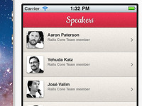 Railsberry Mobile App - speakers