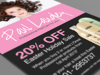 Paul Langley Hair Salon - Flyer Design