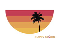 Happy Studio Sticker Design