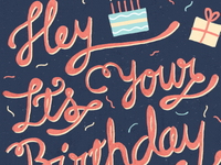 Birthday Hand Drawn Type