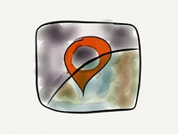 Hemoglobe App Icon Drawing