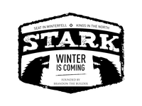 Game of Thrones Modern Badge: Stark