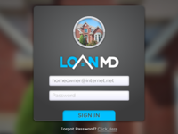 LoanMD Login Screen