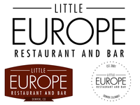 European Restaurant Logo Design Variations