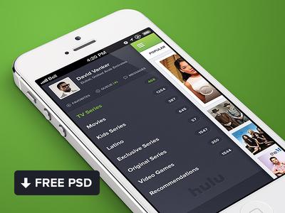 Download Hulu iPhone App Design