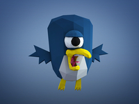 Mutant Penguin Low Poly Monster