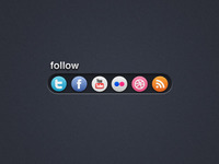 Follow -  Social Bookmark Bar