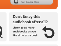 Don't fancy this audiobook after all?