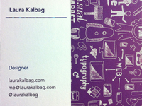 New business cards to match my new site