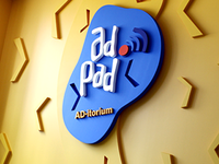 Adpad Lounge Wall Sign