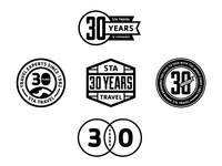 STA Travel 30th Anniversary Logo Creative