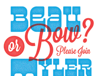 Beau or Bow? Reveal party invite. Full invite attached.