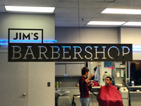 Jim's Barbershop Wordmark