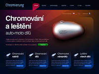 Chromierung website design – 1. version