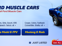 Ford Muscle Cars website design – detail