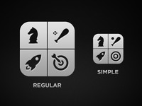 Free Vector Based iOS Game Center Mono Icon
