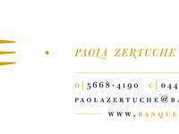 business card | upscale catering company