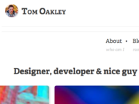 New portfolio/blog design