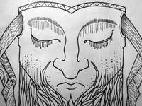 Bearded Meditation final ink