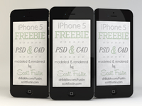 Freebie iPhone 5 in black