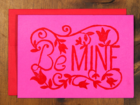 Be Mine Hand Block Printed