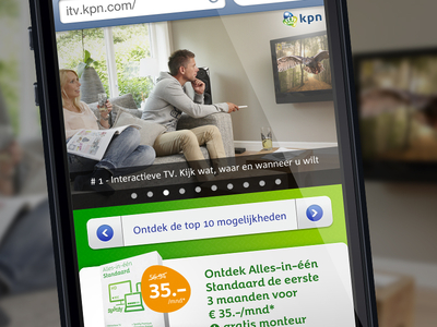 KPN Alles-in-één (mobile) website