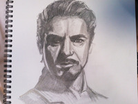 Tony Stark pencil sketch