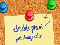 Editable Pin (.AI)