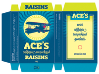 Ace's California Sun Puckered Raisins packaging